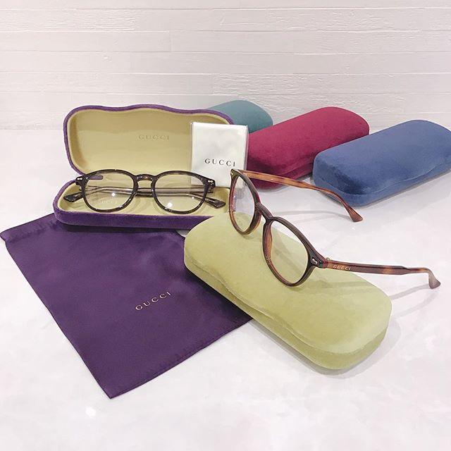 GUCCI メガネ品番:187O カラー:6、8¥47,000(レンズ付き)GUCCI サングラス品番:76SK カラー:2、3¥42,000+tax